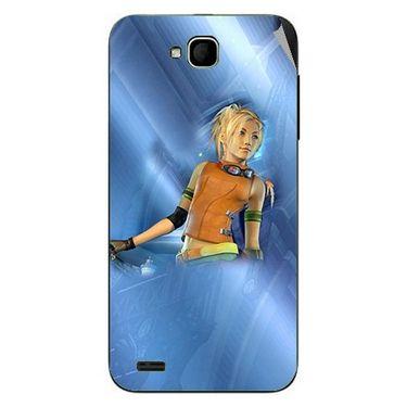 Snooky 47675 Digital Print Mobile Skin Sticker For Xolo Q800 - Blue