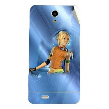 Snooky 47707 Digital Print Mobile Skin Sticker For Xolo Q900 - Blue