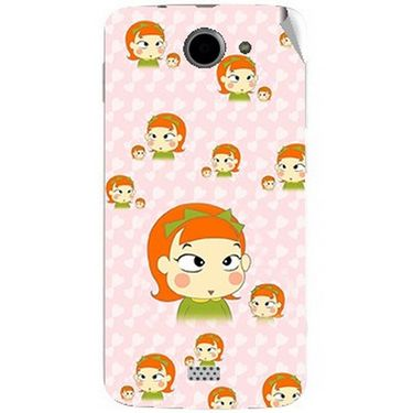 Snooky 47794 Digital Print Mobile Skin Sticker For Xolo Q1000 - Orange