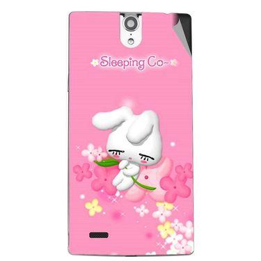 Snooky 47832 Digital Print Mobile Skin Sticker For Xolo Q1010i - Pink