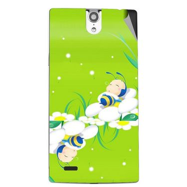 Snooky 47834 Digital Print Mobile Skin Sticker For Xolo Q1010i - Green