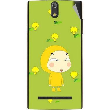 Snooky 47860 Digital Print Mobile Skin Sticker For Xolo Q1020 - Green