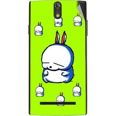 Snooky 47869 Digital Print Mobile Skin Sticker For Xolo Q1020 - Green