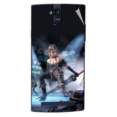 Snooky 47900 Digital Print Mobile Skin Sticker For Xolo Q2000 - Blue
