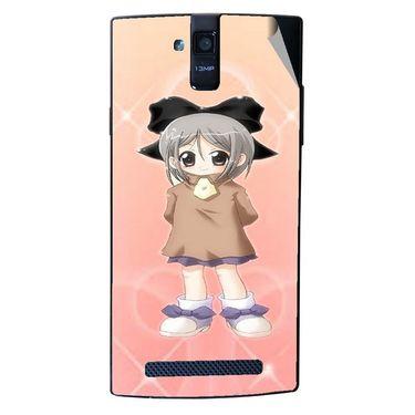 Snooky 47911 Digital Print Mobile Skin Sticker For Xolo Q2000 - Orange