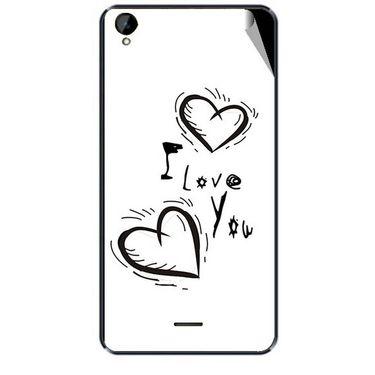Snooky 47940 Digital Print Mobile Skin Sticker For Xolo Q2000L - White