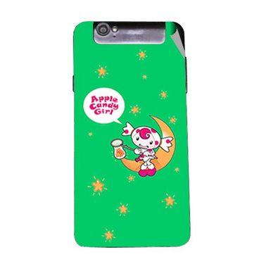 Snooky 47959 Digital Print Mobile Skin Sticker For Xolo Q3000 - Green