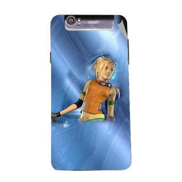 Snooky 47963 Digital Print Mobile Skin Sticker For Xolo Q3000 - Blue