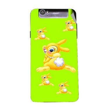 Snooky 47970 Digital Print Mobile Skin Sticker For Xolo Q3000 - Green