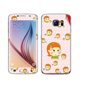 Snooky 48241 Digital Print Mobile Skin Sticker For Samsung Galaxy S6 - Orange