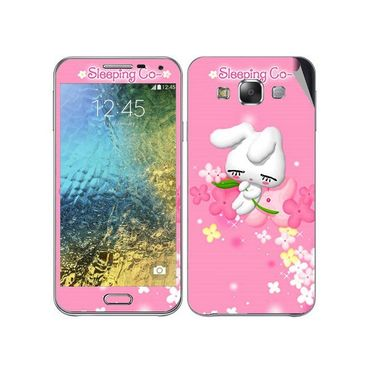Snooky 48279 Digital Print Mobile Skin Sticker For Samsung Galaxy E7 - Pink