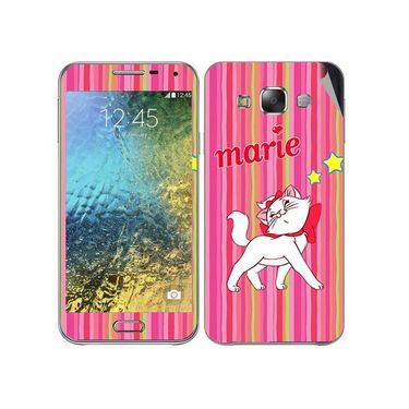 Snooky 48287 Digital Print Mobile Skin Sticker For Samsung Galaxy E7 - Pink
