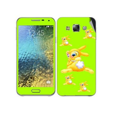 Snooky 48289 Digital Print Mobile Skin Sticker For Samsung Galaxy E7 - Green