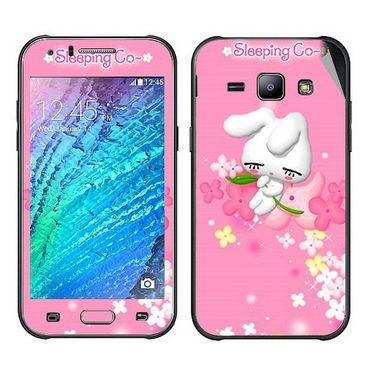 Snooky 48311 Digital Print Mobile Skin Sticker For Samsung Galaxy J1 - Pink