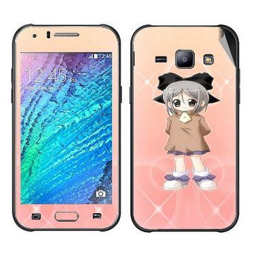 Snooky 48326 Digital Print Mobile Skin Sticker For Samsung Galaxy J1 - Orange