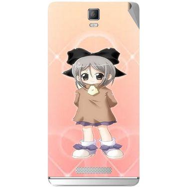 Snooky 48358 Digital Print Mobile Skin Sticker For Lava Iris Fuel 50 - Orange