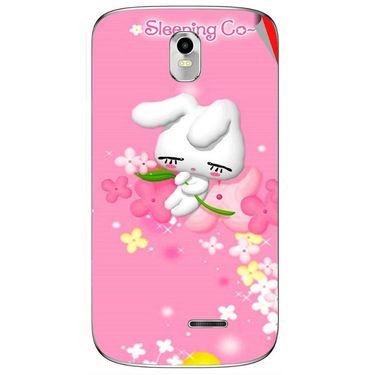 Snooky 48375 Digital Print Mobile Skin Sticker For Lava Iris 402 Plus - Pink