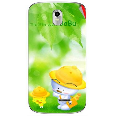 Snooky 48376 Digital Print Mobile Skin Sticker For Lava Iris 402 Plus - Green