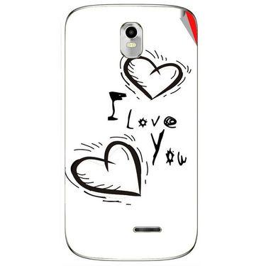 Snooky 48387 Digital Print Mobile Skin Sticker For Lava Iris 402 Plus - White