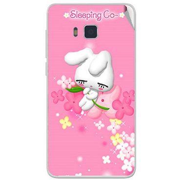 Snooky 48407 Digital Print Mobile Skin Sticker For Lava Iris 406Q - Pink