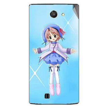 Snooky 48453 Digital Print Mobile Skin Sticker For Lava Iris 456 - Blue