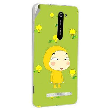 Snooky 48499 Digital Print Mobile Skin Sticker For Lava Iris 503 - Green