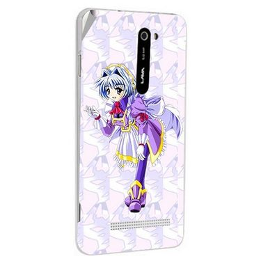 Snooky 48521 Digital Print Mobile Skin Sticker For Lava Iris 503 - Purple