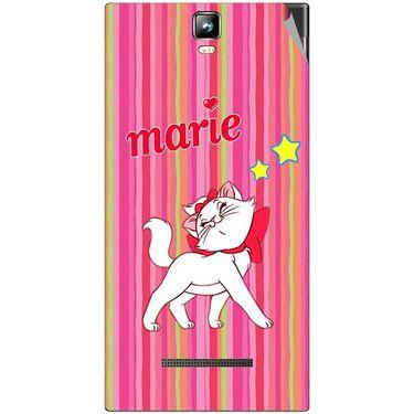 Snooky 48543 Digital Print Mobile Skin Sticker For Lava Iris 504Q Plus - Pink