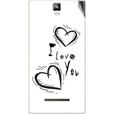 Snooky 48547 Digital Print Mobile Skin Sticker For Lava Iris 504Q Plus - White