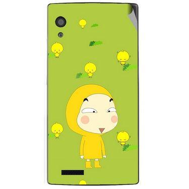 Snooky 48563 Digital Print Mobile Skin Sticker For Lava Iris Fuel 60 - Green