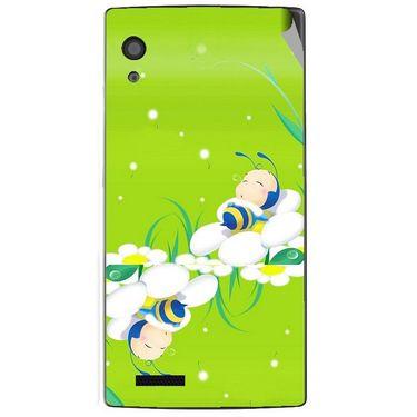 Snooky 48569 Digital Print Mobile Skin Sticker For Lava Iris Fuel 60 - Green