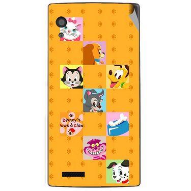Snooky 48574 Digital Print Mobile Skin Sticker For Lava Iris Fuel 60 - Yellow