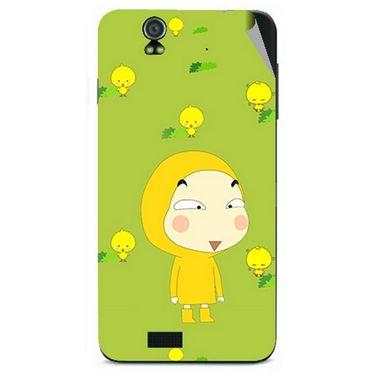 Snooky 48595 Digital Print Mobile Skin Sticker For Lava Iris selfie 50 - Green