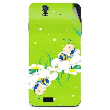 Snooky 48601 Digital Print Mobile Skin Sticker For Lava Iris selfie 50 - Green
