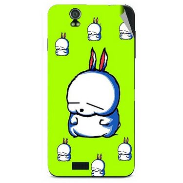 Snooky 48604 Digital Print Mobile Skin Sticker For Lava Iris selfie 50 - Green