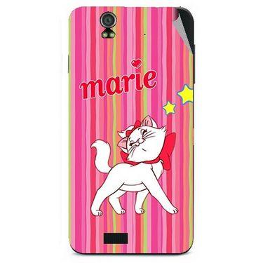 Snooky 48607 Digital Print Mobile Skin Sticker For Lava Iris selfie 50 - Pink