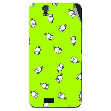 Snooky 48608 Digital Print Mobile Skin Sticker For Lava Iris selfie 50 - Green