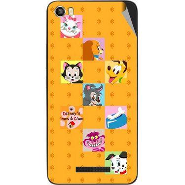 Snooky 48638 Digital Print Mobile Skin Sticker For Lava Iris X8 - Yellow