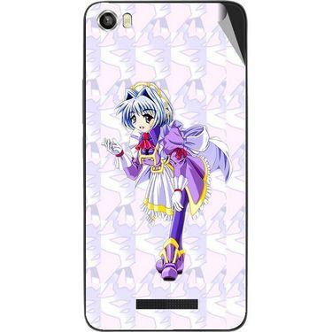 Snooky 48649 Digital Print Mobile Skin Sticker For Lava Iris X8 - Purple