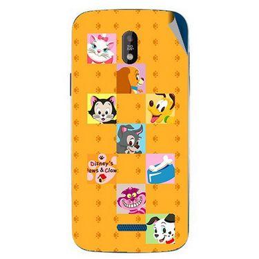 Snooky 48670 Digital Print Mobile Skin Sticker For Lava Iris 450 - Yellow