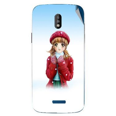 Snooky 48682 Digital Print Mobile Skin Sticker For Lava Iris 450 - White