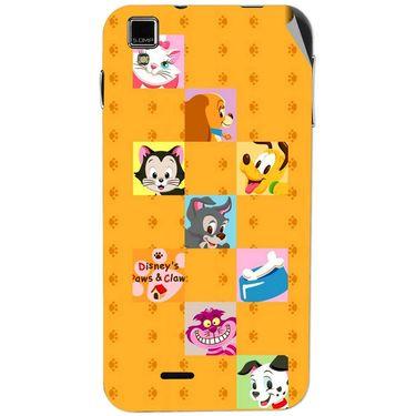 Snooky 48734 Digital Print Mobile Skin Sticker For Lava Iris 405 Plus - Yellow