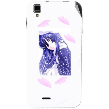 Snooky 48749 Digital Print Mobile Skin Sticker For Lava Iris 405 Plus - White
