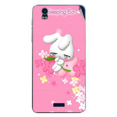 Snooky 48759 Digital Print Mobile Skin Sticker For Lava Iris Pro 20 - Pink
