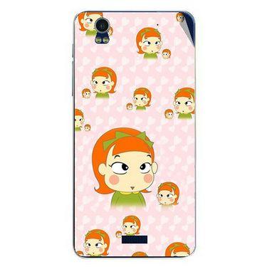 Snooky 48785 Digital Print Mobile Skin Sticker For Lava Iris Pro 20 - Orange