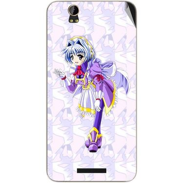 Snooky 48809 Digital Print Mobile Skin Sticker For Lava Iris X1 - Purple