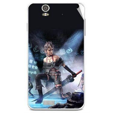Snooky 48827 Digital Print Mobile Skin Sticker For Lava Iris X5 - Blue