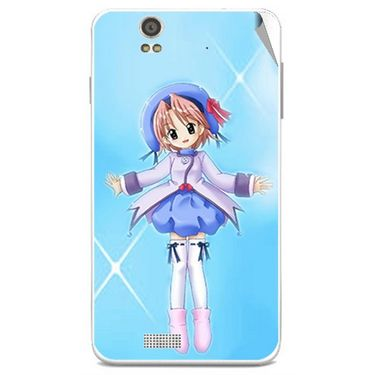 Snooky 48837 Digital Print Mobile Skin Sticker For Lava Iris X5 - Blue
