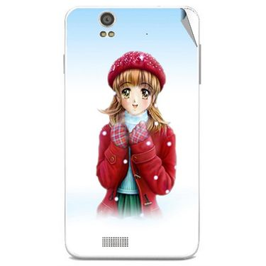 Snooky 48842 Digital Print Mobile Skin Sticker For Lava Iris X5 - White