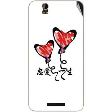 Snooky 48868 Digital Print Mobile Skin Sticker For Lava Iris X1 Grand - White